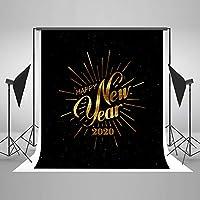 Kate 1.5x2.2m マイクロファイバー 2020新年祭り黒シームレスな背景布