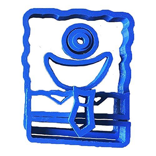 Cuticuter Bob Esponja Cortador de Fondant, Azul, 8x7x1.5 cm