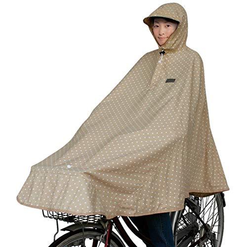 マルト(MARUTO) 自転車屋さんのポンチョ D-3POMT 水玉/ベージュ
