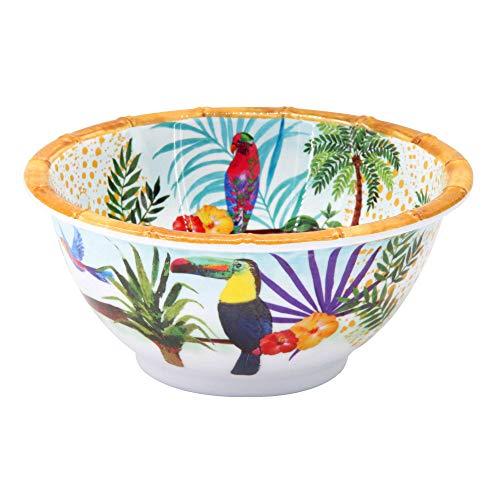Les Jardins de la Comtesse - Petit Bol en Mélamine Pure – Toucans de Rio – Multicolore – Contour Bambou - Ø 15 cm - Service de Table - Collection de Vaisselle Quasi-Incassable