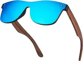 Dachance Wood Sunglasses For Men and Women Personalized Custom Gift Walnut Rimless Ebony Wood 100% UVA Protection