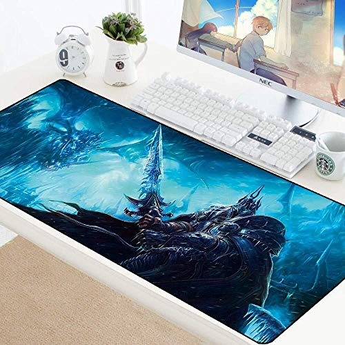 Gaming Mouse Pad World of Warcraft Wow Large Mouse Mat Game Keyboard Mat Table Mat Extended Mousepad for Computer PC Mouse Pad (Color : 2, Size : 9004003mm)