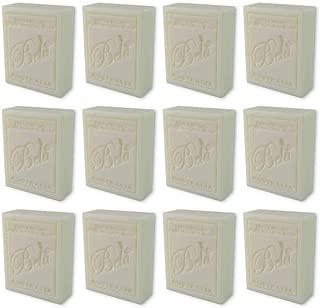 Bela Bath & Beauty, Extra Creamy Goats Milk, Triple French Milled Moisturizing Soap Bars, No Harsh Ingredients, 3.5 oz each - 12 Pack