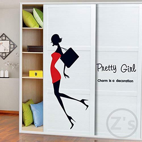 Muursticker etalagepop voor kleding wandsticker wooncultuur lijm mooie muurschildering verwijderbaar vinyl