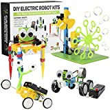 2Pepers Electric Motor Robotic Science Kits for Kids (4-in-1), DIY STEM Toys Kids Science Experiment Kits,...