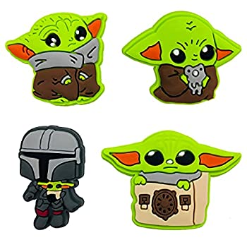 Baby Yoda Charms for Crocs Shoe Charms for Clogs Bracelet Decoration Perfectly Fit for Crocs of Kids and Adult Cute Jibits Shoe Decoration Charms Perfect Gift Idea for Birthday Gift Party Favors