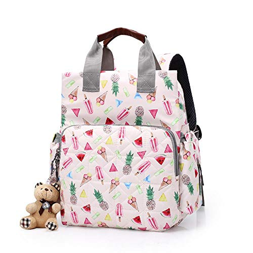 SAMJGF Leisure Backpack Mummy Bag Multi-Function Pregnant Women Backpack Portable Fashion Maternal and Child Package Baby Storage Bag, Summer Pair