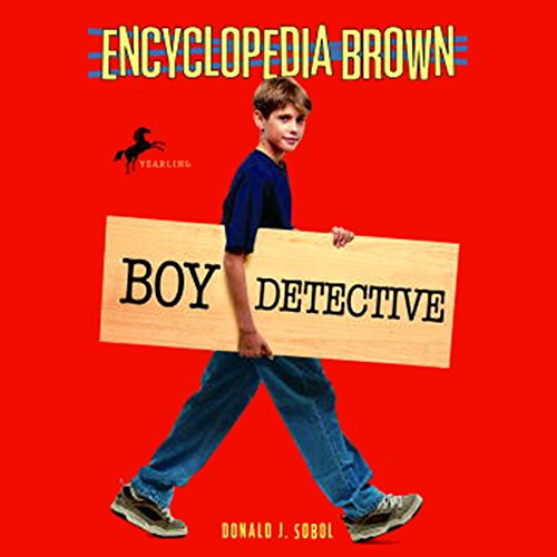 Encyclopedia Brown audiobook cover art