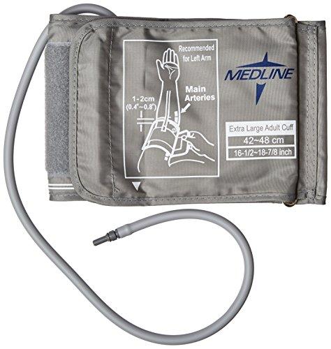 Medline-MDS9973 Blood Pressure Cuff, X-Large Adult - Grey