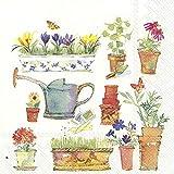 IHR Primavera Giardino Giardinaggio Fiori Luncheon Carta Tovaglioli Luncheon 50,8 cm in una confezione da 33 cm quadrati