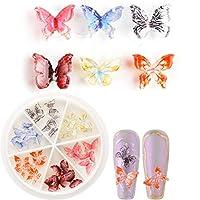1ボックス 30個 ピンク 紫 春ネイル 蝶々 スターズ ネイルパーツ ネイルデコ デコ ネイルアート (C)
