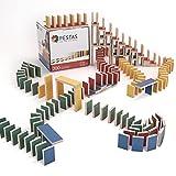 PESTAS Holz-Domino-Steine: 200 nachhaltig & fair produzierte Bausteine aus Birken-Holz für Domino Rallye oder als Bauklötze. Durchdacht bis ins Detail, für Kinder, die richtig gutes Spielzeug lieben.