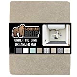 Gorilla Grip Original Premium Under Sink Mat Liner, 24x30, Non-Adhesive Absorbent Organizer Mats, Durable and Strong Waterproof Shelf Liners for Under Kitchen Sinks, Bathroom, Laundry Room, Beige