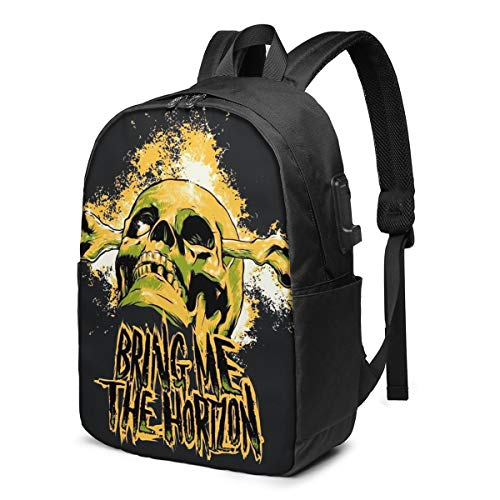 Bring Me The Horizon The Exploited 17-Inch Laptop Multifunctional Business Travel Backpack With Usb Interface