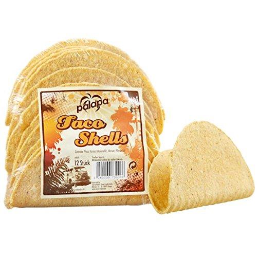 Maistortilla Taco Shells 13 cm - 12 Stück je Packung - Palapa