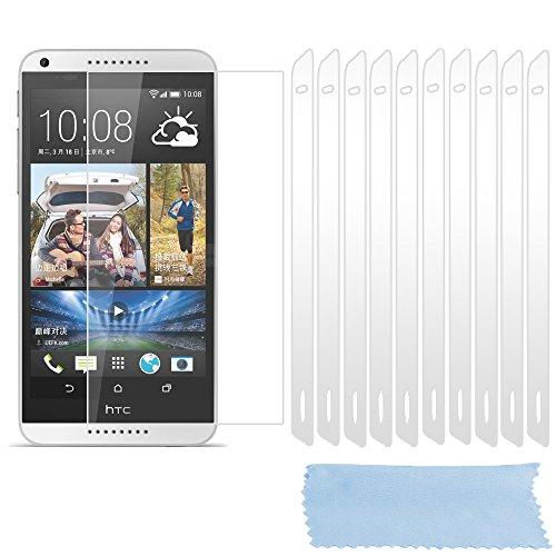 Cadorabo Bildschirmschutzfolien für HTC Desire 816 - Schutzfolien in HIGH Clear – 10 Stück hochdurchsichtiger Schutzfolien gegen Staub, Dreck & Kratzer