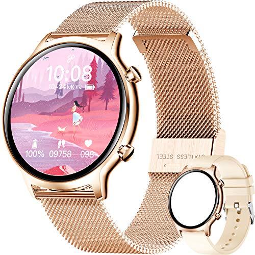 ieverda Fitness Watch Uhr Voller Touch Screen Fitness Uhr IP68 Wasserdicht Fitness Tracker Sportuhr mit Schrittzähler Pulsuhren Stoppuhr für Damen Herren Smart Watch für iOS Android Handy