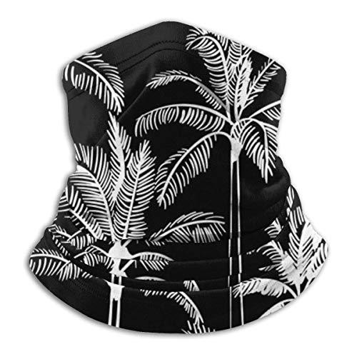 brandless Face Mask Marker Palms - Black Ski Mask Hat Neck Gaiter Headwear for Women Men