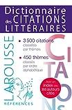 DICTIONNAIRE DES CITATIONS LITTERAIRES