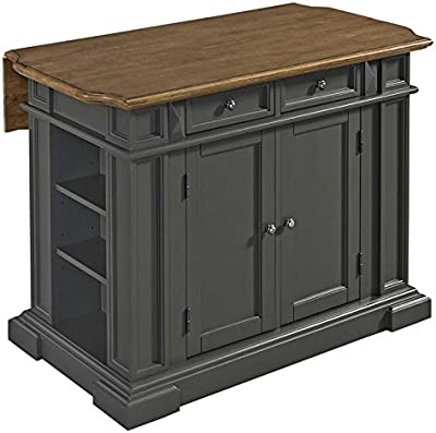 pennfield kitchen island amazon com powell pennfield kitchen island black natural kitchen islands carts 8395