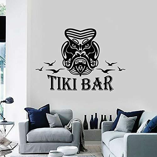 Tianpengyuanshuai fotobehang welkom opschrift decoratief masker Hawaiiaanse stijl vinyl raamsticker coole wandafbeelding afneembaar
