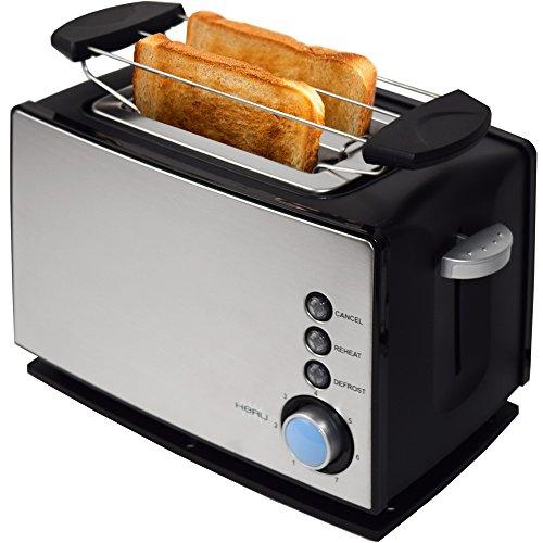 Heru Toaster TO27006 Brötchenaufsatz 870 Watt edelstahl/schwarz