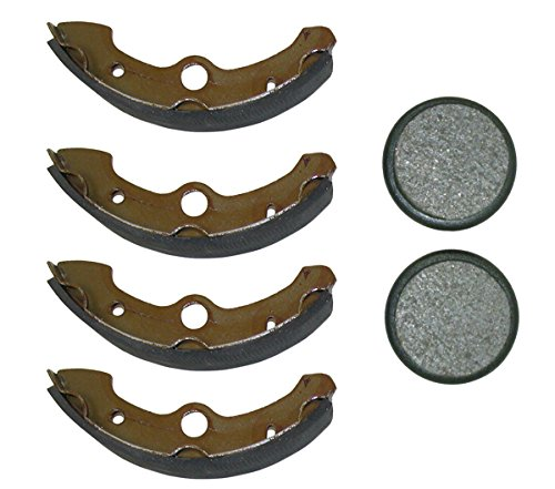 Front Brake Shoes & Rear Brake Pads 1989-1995 Yamaha Big Bear 350 4x4 YFM350FW