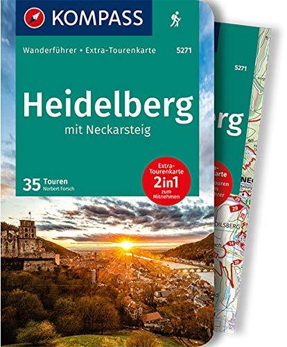 KV WF 5271 Heidelberg mit Neckarsteig (m. Karte): Wanderführer mit Extra-Tourenkarte 1:50.000, 35 Touren, GPX- Daten zum Download (KOMPASS-Wanderführer, Band 5271)