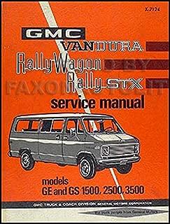 1971 GMC Vandura, Rally Wagon and STX Repair Shop Manual GE GS 1500-2500-3500
