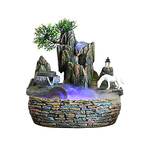 Cascada Zen Fuentes De Interior Relajación Desktop Fountain Fountain Waterfall Cascada Interior Característica Atomizador para La Decoración del Dormitorio De La Oficina En El Hogar Decoración