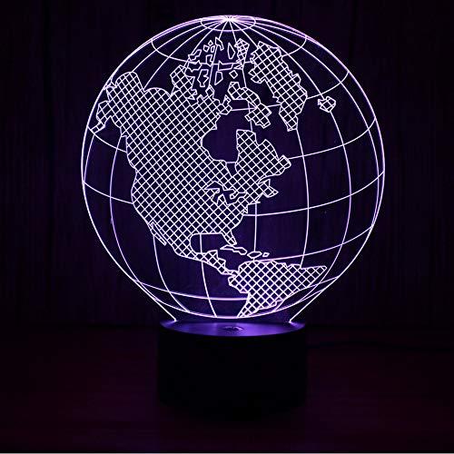 Lifme 3D Led Visual World Carte Night Lights Enfants Cadeaux Usb Luminaire Table Lampe Terre Forme Lampe Bébé Dormir Veilleuse