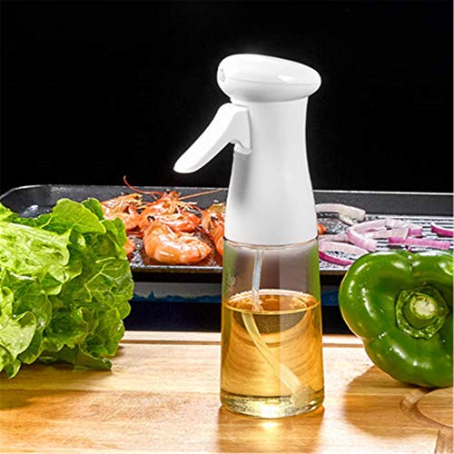 Pulverizador de Aceite de Cocina Botella de Aceite Spray Spray Spray atomizado Can Barbacoa Artifact Forolive Aceite EQUILIBLE Spray Puede lucar (Color : White, Size : 20.5x6cm)