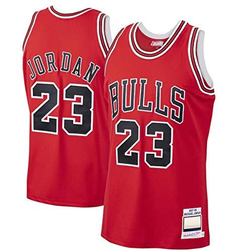 FTING Camisetas de baloncesto personalizadas Michael Bulls NO.23 Chicago Jordan 1997-98 Hardwood Classics Player Jersey - Rojo