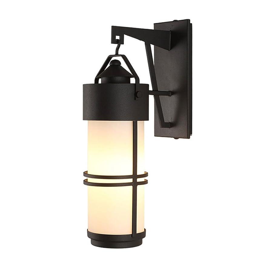 副被る本質的にHamel ウォールランプ レトロな屋外の壁ランプ防水ガーデンライトのシンプルなガラスウォールライト