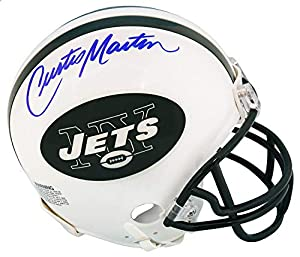 Curtis Martin Signed New York Jets Riddell Mini Helmet - Schwartz Authentic