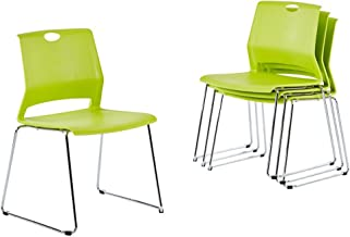 gray stacking chairs