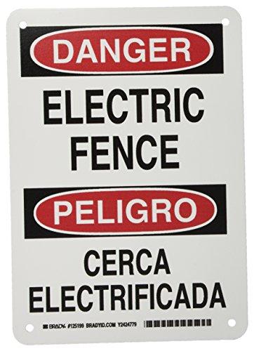 señal cerca eléctrica fabricante Brady