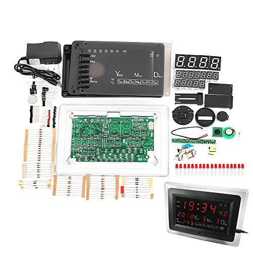 YEMIUGO Electronic Digital Clock Kits DIY Electronics Calendar Kit with Temperature Display Electronic Soldering Learning Practice Tools