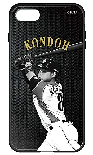 ガラスハイブリッドケース [IPHONE8] ケース 背面強化ガラス 野球 選手 かっこいい おしゃれ クール 北海道...