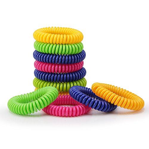 eLander Mosquito Bracelets,12 Pack Premium Naturals Mosquito Repellent Bracelets, Repeller up to 250Hrs of Protection Against Mosquitoes - Outdoor & Indoor