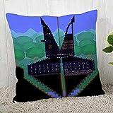 LIFUQING Funda De Almohada Terraria Square Funda De Almohada Christmas Zipper Pillowcase Funda de cojín 17.7 x 17.7 Pulgadas