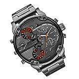 beeyuk Acero Inoxidable Casual Cuero del Deporte y de Negocios analógico de Pulsera de Cuarzo con dial Grande DZ Watch en Todos los Modelos Exceptional