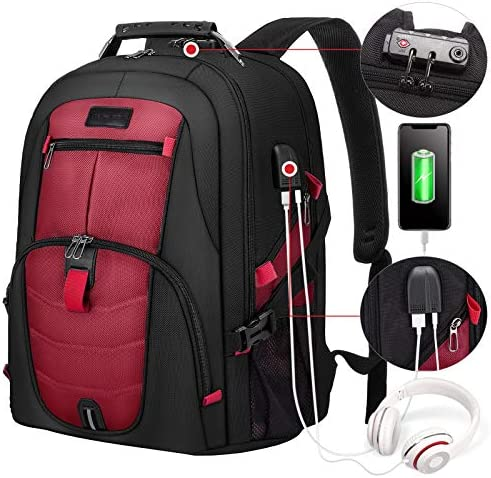 Travel Laptop Backpack Waterproof Anti Theft Backpack with Lock and USB Charging Port Large product image