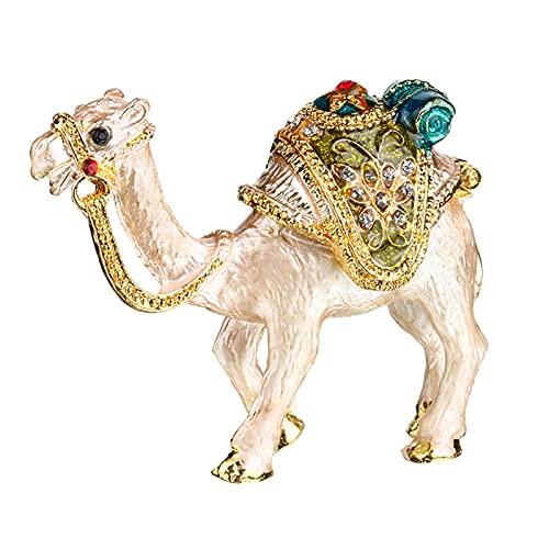 PDFF Caja De Baratija De Camello, Diamantes De Imitación Pegados A Mano, Caja De Almacenamiento De Joyas De Cristal, Figuras Coleccionables, Decoración De Regalos