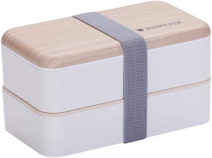 BCDlily Leak-Proof Bento Box for Kids Adults with Dividers Spoon