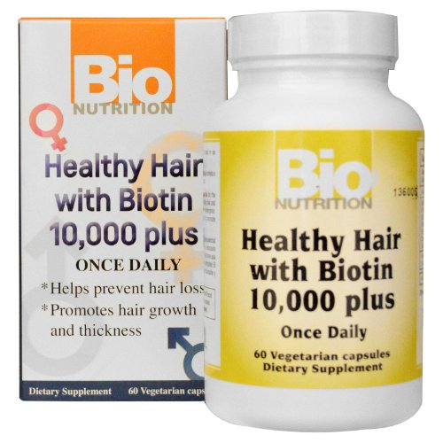 Price comparison product image Healthy Hair with Biotin 60 Veg Caps - 10mg