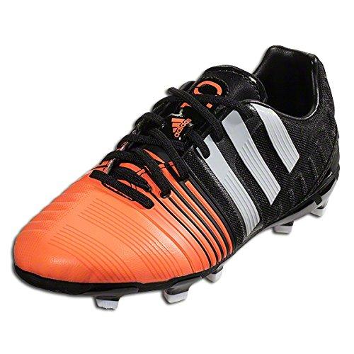 Adidas Boys Nitrocharge 1.0 FG J (Black/Peach) Soccer Cleats Size 4.5y