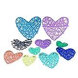 10 piezas de 13 cm de ratán con forma de corazón Sepak colorido DIY Takraw...