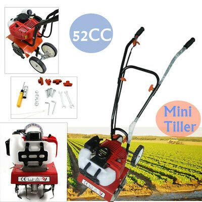 Gas Garden Tiller Rototiller Cultivator Yard 52CC Front Tine Tool 300mm 40cc 4-Cycle Viper Engine