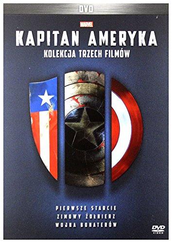 Kapitan Ameryka Trylogia: Pierwsze starcie / Zimowy ĹťoĹnierz / Wojna bohaterĂlw [3DVD] (Nessuna versione italiana)